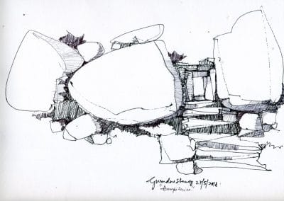 drawing, hampi 1