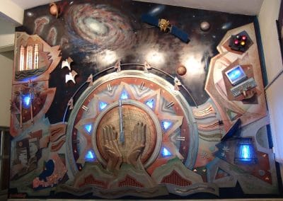 mural for istrac - ISRO, mixed media, 20ft x 6ft approx