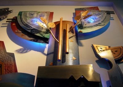 mural for BEL corporate office, Blr, mixed media,