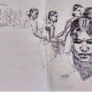 Dhimsa dancers
