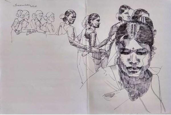 Dhimsa dancers by Sreenivasa Makineedi
