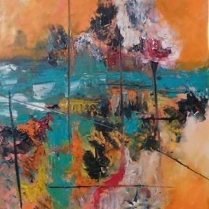 Abstract Landscape 2 by Sarika Singh