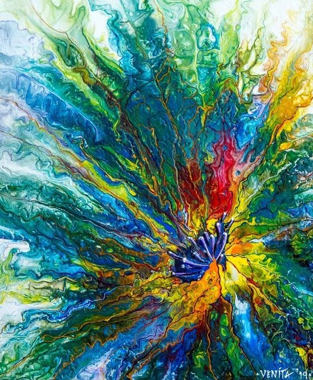 Rainbow Cornflower