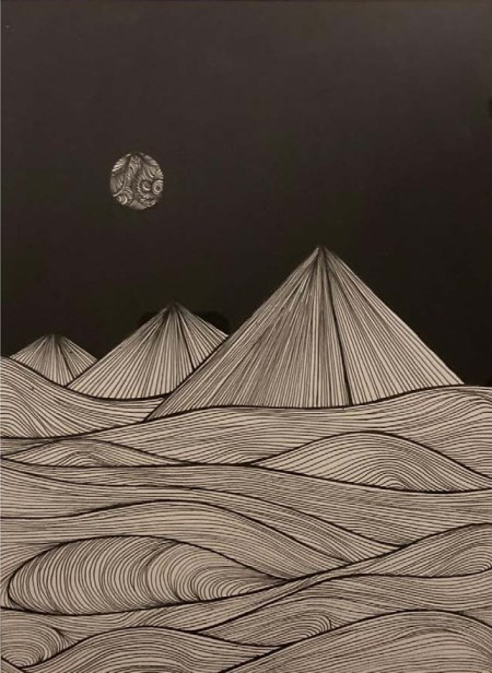 The Pyramids at Night by Nishita Baderia